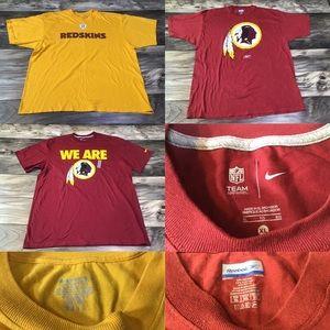 Lot of 3 Washington Redskins Men's XL Shirts L1